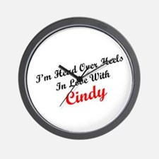 In Love with Cindy Wall Clock
