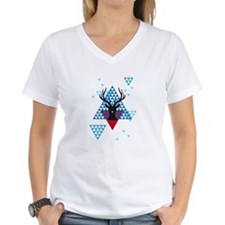 Christmas deer with abstract geometric pattern T-S