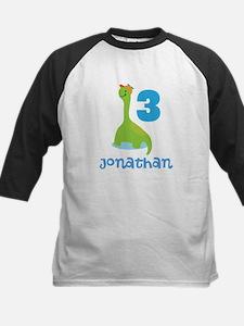 3rd Birthday Dinosaur Personalized Baseball Jersey
