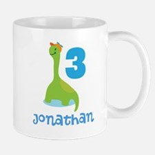 3rd Birthday Dinosaur Personalized Mugs