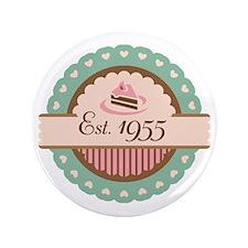 "1955 Birth Year Birthday 3.5"" Button"