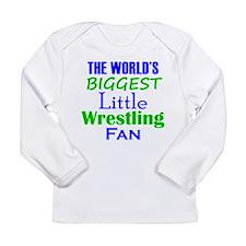Biggest Little Wrestling Fan Long Sleeve T-Shirt