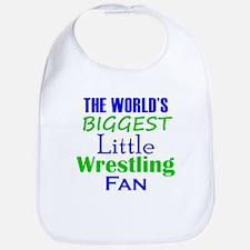 Biggest Little Wrestling Fan Bib