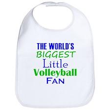 Biggest Little Volleyball Fan Bib