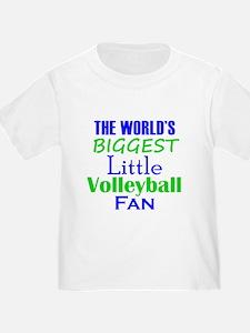 Biggest Little Volleyball Fan T-Shirt