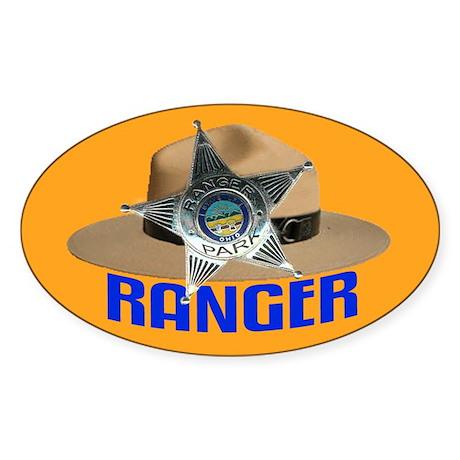Ranger on Patrol Oval Sticker