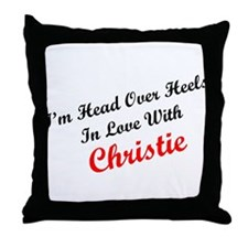 In Love with Christie Throw Pillow