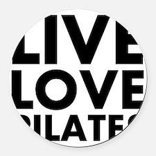 Live Love Pilates Round Car Magnet