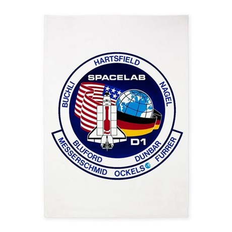 STS-61A Challenger 5'x7'Area Rug