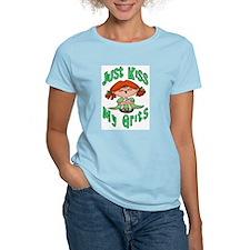 Kiss My Grits Women's Pink T-Shirt