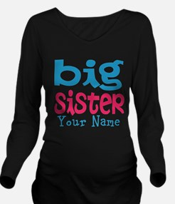 Personalized Big Sister Long Sleeve Maternity T-Sh