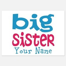 Personalized Big Sister Invitations