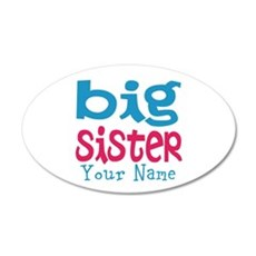 Personalized Big Sister 35x21 Oval Wall Decal