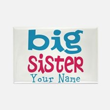 Personalized Big Sister Rectangle Magnet