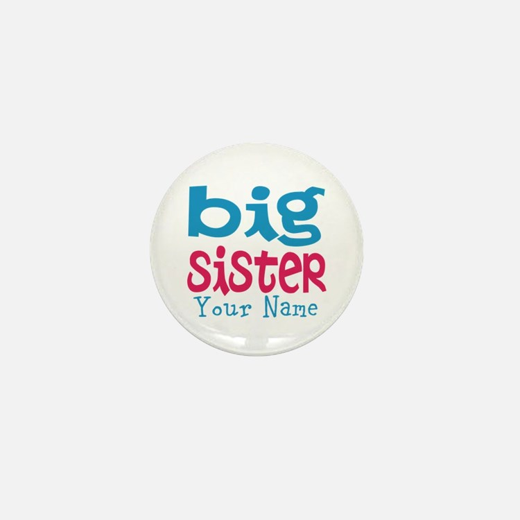 Personalized Big Sister Mini Button (10 pack)