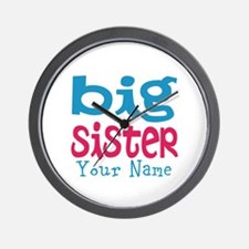 Personalized Big Sister Wall Clock