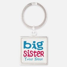 Personalized Big Sister Square Keychain