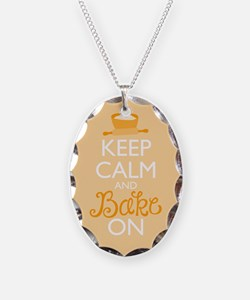 Keep Calm and Bake On Necklace