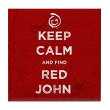 Keep Calm Red John The Mentalist Tile Coaster