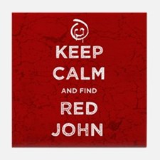Keep Calm Red John The Mentalist Tile Coaster