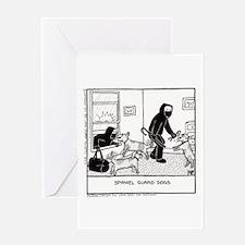 Spaniel Gaurd Dog - Greeting Card