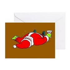 Partied Out Santa Greeting Cards (Pk of 20)