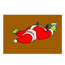Partied Out Santa Postcards (Package of 8)