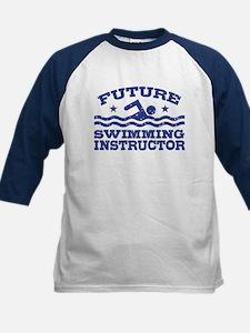 Future Swimming Instructor Kids Baseball Jersey