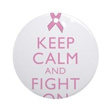 Keep Calm Breast Cancer Support Awareness Ornament