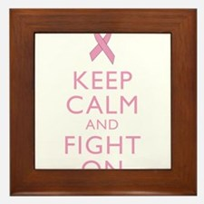 Keep Calm Breast Cancer Support Awareness Framed T