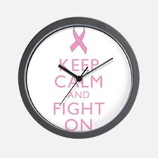 Keep Calm Breast Cancer Support Awareness Wall Clo