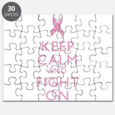 Keep Calm Breast Cancer Support Awareness Puzzle