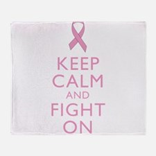 Keep Calm Breast Cancer Support Awareness Throw Bl