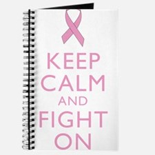 Keep Calm Breast Cancer Support Awareness Journal