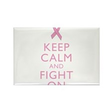 Keep Calm Breast Cancer Support Awareness Magnets