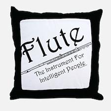 Intelligent Flute Throw Pillow