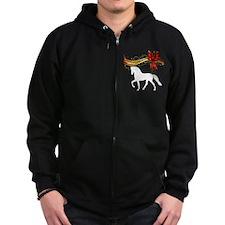 Holiday Racking Horse Zip Hoodie