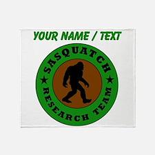 Custom Sasquatch Research Team Throw Blanket