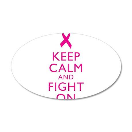 Keep Calm Breast Cancer Support Awareness Wall Dec