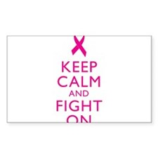 Keep Calm Breast Cancer Support Awareness Decal