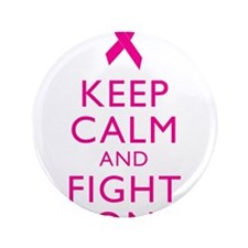 """Keep Calm Breast Cancer Support Awareness 3.5"""" But"""