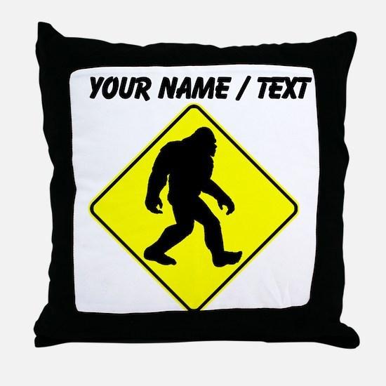 Custom Bigfoot Crossing Throw Pillow