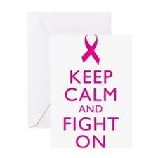 Keep Calm Breast Cancer Support Awareness Greeting
