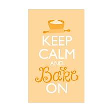 Keep Calm and Bake On Decal
