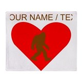 Bigfoot personalize Fleece Blankets