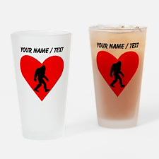 Custom Bigfoot Heart Drinking Glass