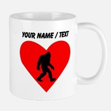 Custom Bigfoot Heart Mugs