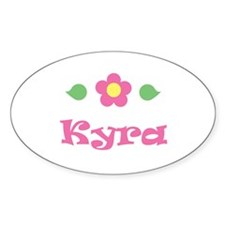"Pink Daisy - ""Kyra"" Oval Decal"