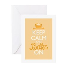Keep Calm and Bake On Greeting Card