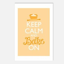 Keep Calm and Bake On Postcards (Package of 8)